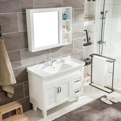 北欧现代橡木浴室柜组合实木卫浴柜卫生间洗漱台洗手盆洗脸盆柜池