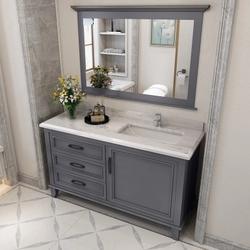 浴室柜组合现代简约洗手洗脸盆柜卫浴柜落地卫生间洗漱台美式风格
